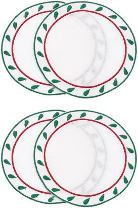 Los Encajeros Exclusive Set-of-Four Linen Coasters