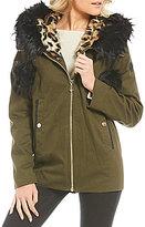 Gianni Bini Faux Fur Hooded Anorak Coat