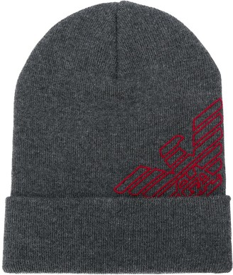 Emporio Armani Logo Knitted Hat
