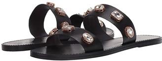 Steve Madden Jace Flat Sandal (Black Multi) Women's Shoes