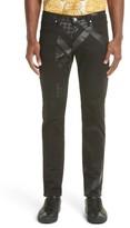 Versace Men's Slim Fit Print Jeans