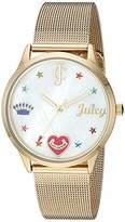 Juicy Couture Black Label Women's -Tone Mesh Bracelet Watch