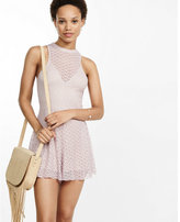 Express lace open back romper