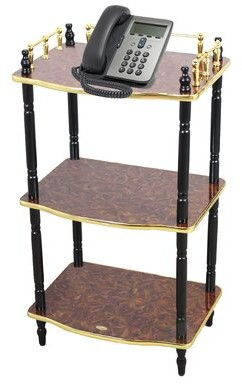Uniquewise 3-Tier End Table, Small Book Shelf, Accent Side, and End Table