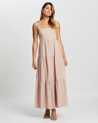 Atmos & Here Luciana Linen Blend Dress