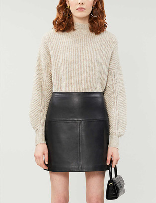 Ted Baker Valiat leather skirt