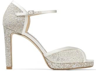 Jimmy Choo Lacia 100mm glitter sandals