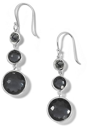 Ippolita Lollipop Lollitini Sterling Silver, Hematite Doublet & Hematite 3-Stone Drop Earrings