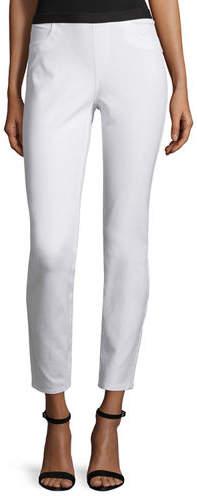 Lafayette 148 New York Elastic-Waist Slim-Leg Ankle Pants