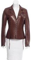 Roberto Cavalli Embellished Leather Jacket
