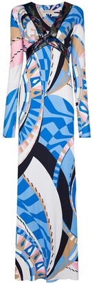 Emilio Pucci Wally-print sequin-embellished gown