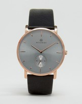 Accurist Leather Watch In Black