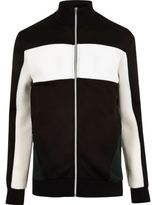 River Island MensBlack zip color block jacket