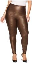 Spanx Plus Size Faux Leather Leggings Women's Clothing