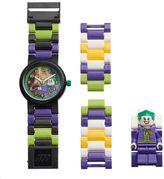 Lego Kids' DC Comics Joker Minifigure Interchangeable Watch Set