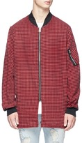 R 13 Gingham check flight shirt jacket