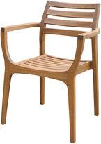 OUTDOOR INTERIORS Outdoor Interiors Danish Eucalyptus Stacking Arm Chairs