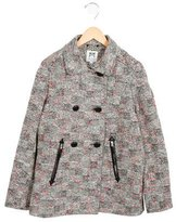 Milly Minis Girls' Tweed Double-Breasted Jacket