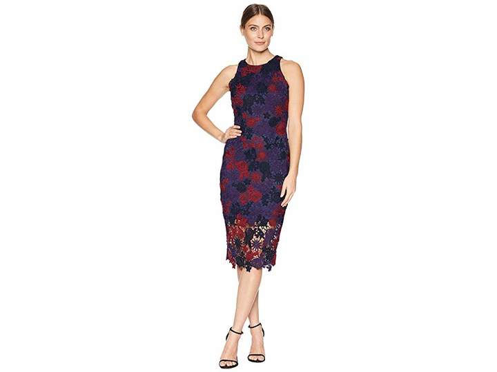 Alexia Admor Floral Lace Midi Dress Women's Dress