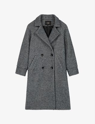 Maje Gabyne double-breasted wool-blend coat