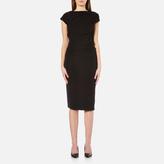 Karl Lagerfeld Women's Elastic Detail Dress Black