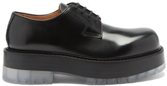 Bottega Veneta Stilt Chunky-sole Leather Derby Shoes - Black