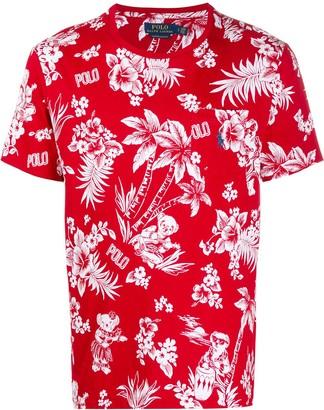 Polo Ralph Lauren Hawaiian and logo print T-shirt