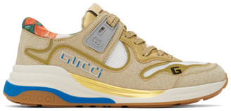 Gucci Gold Sparkling Ultrapace Sneakers