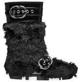 Miu Miu Women's Black Leather Ankle Boots.