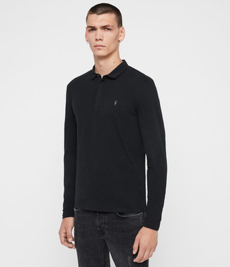 AllSaints Brace Long Sleeve Polo Shirt