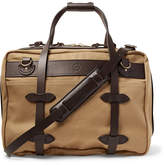 Filson Pullman Leather-trimmed Twill Holdall - Tan