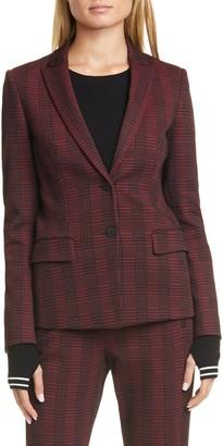 HUGO Houndstooth Plaid Long Jacket