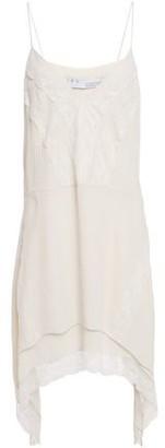 IRO Gift Lace-trimmed Crepe De Chine Mini Dress