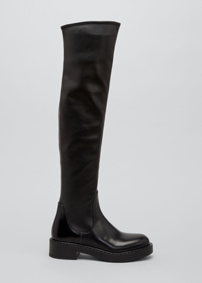 Prada Stretch Leather Over-the-Knee Boots