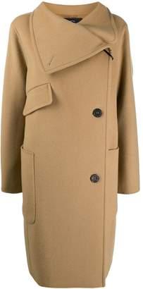 Luisa Cerano off-centre fastening coat