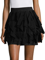 Balmain Solid Ruffled Skirt