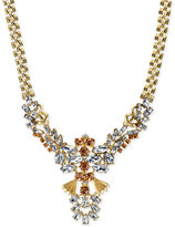 2028 Gold-Tone Multi-Crystal Statement Necklace