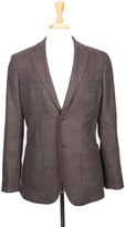 Boga Plum Wine & Navy Plaid Notch Lapel Modern Fit Blazer