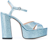 Marc Jacobs glittered platform sandals - women - Leather/Patent Leather - 36