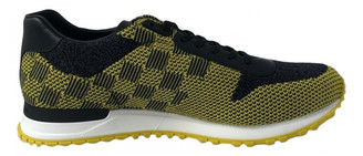 Louis Vuitton Yellow Cloth Trainers