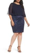 Alex Evenings Plus Size Women's Sequin Embroidered Blouson Sheath Dress