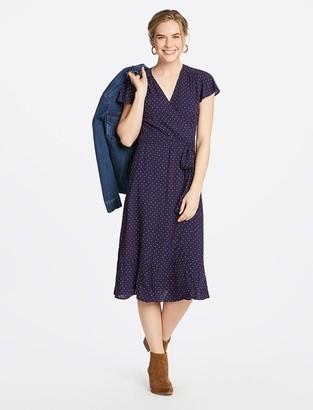 Draper James Multi Dot Midi Wrap Dress
