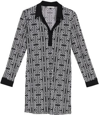 Tash + Sophie Spread Collar Chain Print Shift Dress (Petite)