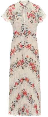 RED Valentino Pleated floral maxi dress