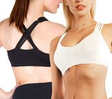 Anémone Strappy Criss-cross Back Comfort Sports Bra with Removable Pads