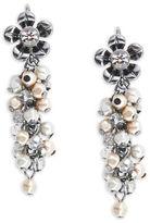 Nanette Lepore Faux Pearl Floral Drop Earrings