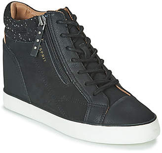 Esprit STAR WEDGE women's Shoes (High-top Trainers) in Black