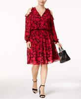 MICHAEL Michael Kors Size Cold-Shoulder Peasant Dress