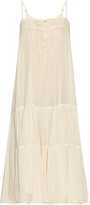 Mes Demoiselles Atoll cotton-voile tiered dress