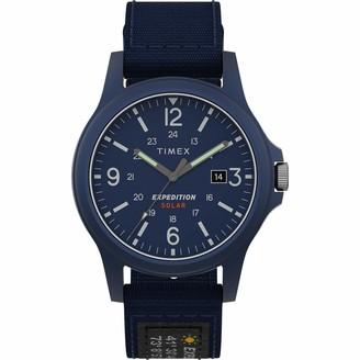 Timex Men's TW4B19000 Expedition Acadia Solar 40mm Orange/Black Fabric Strap Watch